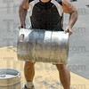 Kegger: Brian Boyce lifts a full beer keg onto a loading dock at the third annual Union Hospital Center for Fitness Gladiator Challenge.