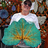 One-of-a-kind: Since Linda Gard makes her concrete leaves using real leaves, in this case a zucchini , the pieces she turns out are one of a kind.