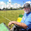 Man with the plan: Marty Hendricks is the ground crew supervisor for the Terre Haute Rex and ISU baseball teams at Bob Warn Field.