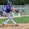 Yard: Post 346 third baseman Michael Eberle cranks the ball out of the park for a home run during game action Saturday against Kokomo Post 6.