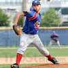 Heat: Post 346 pitcher Tylor Goldman fires a pitch to the plate Saturday morning during play against Kokomo Post 6.