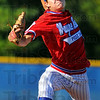 Good outing: J.R. Patterson throws to a Greene County batter early in the American Legion baseball game Wednesday eveing on the Terre Haute North diamond.