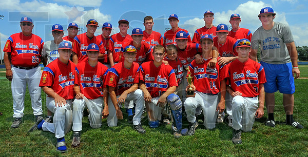Repeat: The 2010 version of the Wayne Newton Post 346 American Legion baseball team has repeated as regional champions, defeating Kokomo Post 15-2 Monday afternoon.