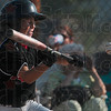 Tribune-Star/Joseph C. Garza<br /> Closed eye bunt: Riley's Landon Shipley bunts the ball during the championship game of the Cal Ripken 10-and-under Central State tournament Tuesday in Riley.