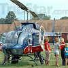 Flight Nurse: Lori Mayle (face to camera) gives an informational tour of their Air Evac during Regional Hospital's Block Party Tuesday afternoon.
