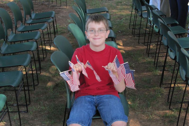 Flag boy Anthony, St. John's 4th of July