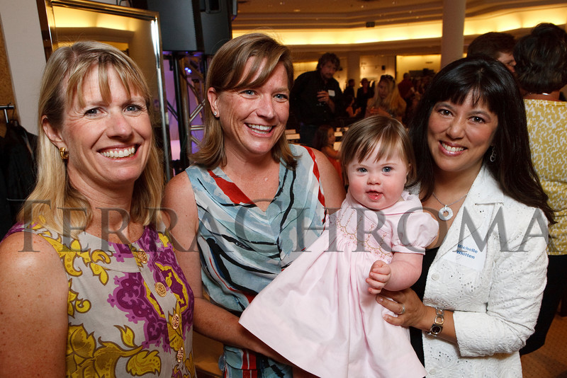 "(Denver, Colorado, July 27, 2010)<br /> Laura Barton, Alison Winfield and her daughter, Kate, and Michelle Sie Whitten.  The ""Be Beautiful Be Yourself Jet Set Fashion Show 2010 Saks Fifth Avenue Kickoff Party,"" benefiting the Linda Crnic Institute for Down Syndrome, supported by the Global Down Syndrome Foundation, at Saks Fifth Avenue Cherry Creek in Denver, Colorado, on Tuesday, July 27, 2010.<br /> STEVE PETERSON"