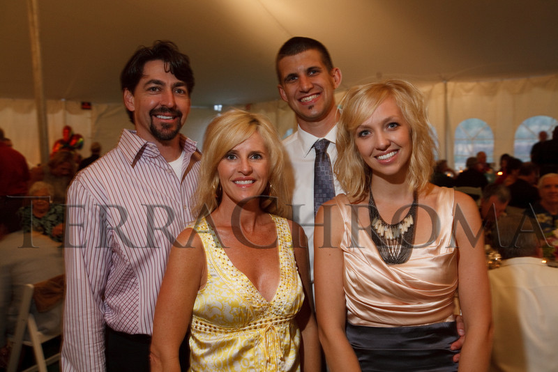 "(Cherry Hills Village, Colorado, July 30, 2010)<br /> David and Lisa Treadwell with Adam and Katie Kemp.  ""Sunset in the Country,"" benefiting the Anchor Center for Blind Children, at the home of Mike and Peggy Shanahan in Cherry Hills Village, Colorado, on Friday, July 30, 2010.<br /> STEVE PETERSON"