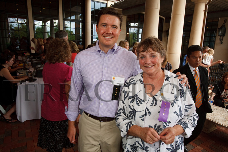 "(Cherry Hills Village, Colorado, July 30, 2010)<br /> Alexander Cmil and Alice Applebaum (ACBC executive director).  ""Sunset in the Country,"" benefiting the Anchor Center for Blind Children, at the home of Mike and Peggy Shanahan in Cherry Hills Village, Colorado, on Friday, July 30, 2010.<br /> STEVE PETERSON"