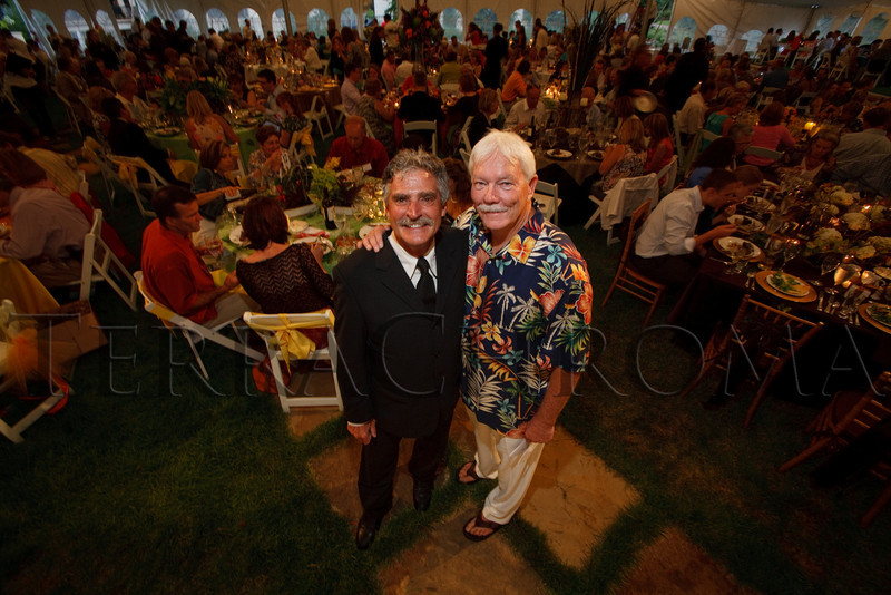 "(Cherry Hills Village, Colorado, July 30, 2010)<br /> Richard Rizzo (event coordinator) and Gary Corbett (auctioneer).  ""Sunset in the Country,"" benefiting the Anchor Center for Blind Children, at the home of Mike and Peggy Shanahan in Cherry Hills Village, Colorado, on Friday, July 30, 2010.<br /> STEVE PETERSON"