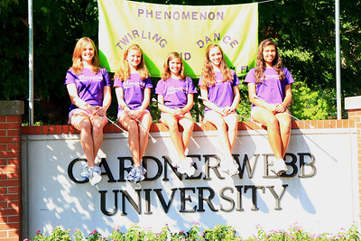 Drum Majorettes of America group at Gardner-Webb University