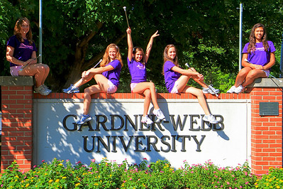 Drum Majorettes of America group at Gardner-Webb University