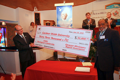 The announcement and public recognition of the Ebenezer Missionary Baptist Association Theological Education Endowed Scholarship Fund in Memory of Reverend Doctor Samuel Anderson Raper at Palmer Grove Baptist Church; June 30, 2010.