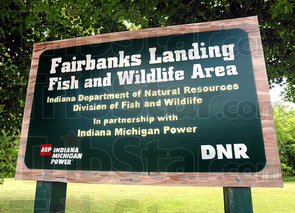 Sign Detail: Detail photo of Fairbanks Landing Fish and Wildlife area.