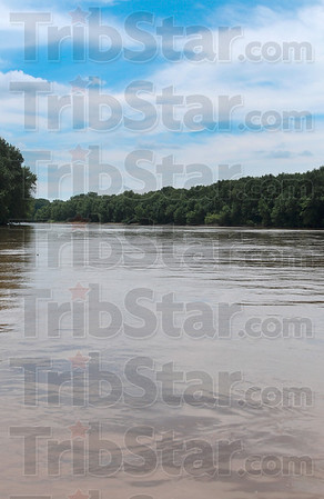 The view on the Wabash River heading north on Joe's Airboats Wednesday.