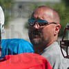 Tribune-Star/Joseph C. Garza<br /> A reflection of his strategy: South Putnam football coach Troy Burgess instructs his players on the next play during practice Thursday  for the Wabash Valley Football Coaches Association's game Saturday at Memorial Stadium.