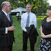 Evening out: Enjoying the garden party before the Chamber of Commerce gala last week were Gary Morris, and Terre Haute city council president Neil Garrison and his wife Tonya.