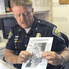 Change: Indiana State Police Public Information Officer Sgt. Joe Watts shows the new location of the former Terre Haute Post to Putnamville on a district map Thursday afternoon.