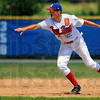 Roll a pair:  Post 346 secondbaseman Parker Fulkerson tosses the ball to Jacob Hayes to force the first out of a double play against Lafayette Sunday afternoon.