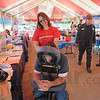 Massage therapy: CSN employee Jim Wilcox gets a massage from Health Source therapist Kari Hiatt during the health fair event Wednesday afternoon.