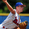 Good start: Tyler Wampler started the game for Post 346 Sunday afternoon, allowing 2 runs in 4 innings of work.