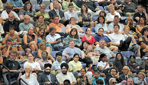Graduation gathering: The lower section seats at Hulman Center were filled to near capacity during South's graduation ceremony Sunday afternoon.