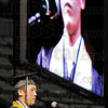 Validictorian one: Andrew Huh is the first of five Validictorian speakers for South's Graduation Sunday afternoon. Others speaking were Sangeeth Jeevan, Eesha Purohit, John Ryan and Sachin Shinde.