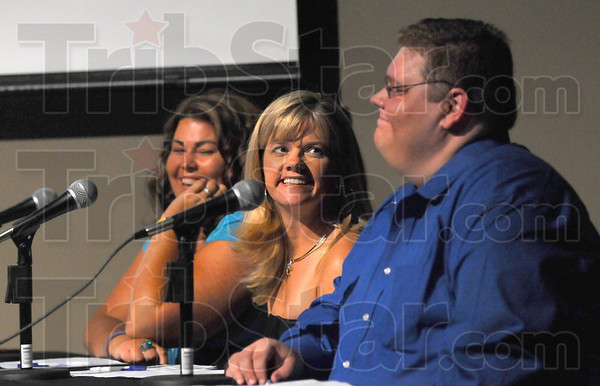 Judges: The Wabash Valley Idol judges were Jules, Julie Henricks and Adam Michaels. Here they react to their introductions by Matt Luecking.