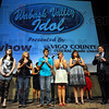 Final 5: The five finalists in the Wabash Valley Idol are selected Friday evening. Reading the names is Matt Luecking(far right). The finalists were: Stephanie Moore, Stephanie Beck, Cody Wence, Shelly Douglass and Miranda Harper.