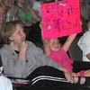 Fan base: Shelly Douglass brought a large, if young fan base with her from Greencastle. The preschool teacher was one of the five finalists.