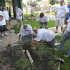 Can you dig it: A group of volunteers does some underground PVC repairs at the West Vigo Community Center in West Terre Haute Friday morning. Included in the group were representatives from UEC, Eli LIlly and the Tribune-Star.