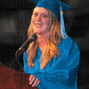 Good times: Aarika Harrison recounts some of the fond memories of her time at McLean High School at their Commencement Friday evening.