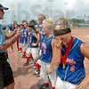 Sweet sorrow: Linton-Stockton's #4, Sheldan Falls doesn't like the idea of being runner-up in the Class A State Softball Championship game Saturday afternoon.
