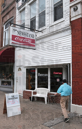 Tribune-Star/Joseph C. Garza<br /> A Sullivan square favorite: The Newsstand has been a staple on the courthouse square in Sullivan.