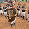 Champions: Riverton Parke players pose with the IHSAA State Championship trophy Saturday afternoon.