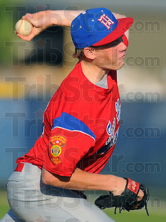Starter: Bryan Nacke started the game on the mound for Post 346.