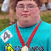 Veteran: Kyle Ellis has been competing in the Special Olympics for 12 years.