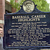 Highlights: Detail photo of Brown plaque unveiled near 7th and Cherry Saturday afternoon honoring former Terre Haute baseball player Mordecai Brown. At left is Scott Brown, cousin of Morticai