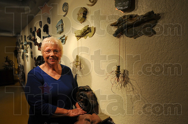 Displayed: Diane Mann had several peices of her work displayed at the Halcyon Gallery recently.