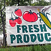Sign detail: Sign at entrance to the Farmers Market detail photo.