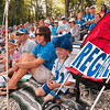 Tribune-Star file photo/Joseph C. Garza<br /> Ready for Reggie: Indianapolis Colts fan, Landon Stoll, 7, of Haubstadt, watches practice Monday, Aug. 3, 2009 with his mom, dad and sister, Matt, Stephanie and Loren Stoll, at Rose-Hulman.