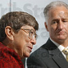 "Tribune-Star file photo/Joseph C. Garza<br /> ""In good hands"": Then-St. Mary-of-the-Woods President Joan Lescinski discusses June 29, 2007 how she has enjoyed her time as president of the college and how she knows she is leaving it in good hands with then President-elect David G. Behrs as he takes over the office."