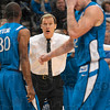 Tribune-Star/Joseph C. Garza<br /> This Jay has flown: Former Creighton coach Dana Altman instructs his team from the sideline during the Jays' game against the Sycamores Jan. 1 at Hulman Center.