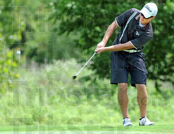 Southpaw: Northview's Drew Snyder hits a shot during sectional play Monday morning.