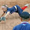 Diving dandy: North's #5, shortstop Danielle Ketner dives for a ball that was hit past the third baseman during game action Tuesday evening.