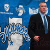Tribune-Star/Joseph C. Garza<br /> Thanks Kevin and Royce: New Indiana State men's basketball head coach Greg Lansing thanks all of his supporters during the press conference to announce his new position Tuesday at Hulman Center.