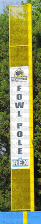 Fair deal: The foul poles at Bob Warn Field are sponsored by Buffalo Wild Wings for the Rex inaugural season.