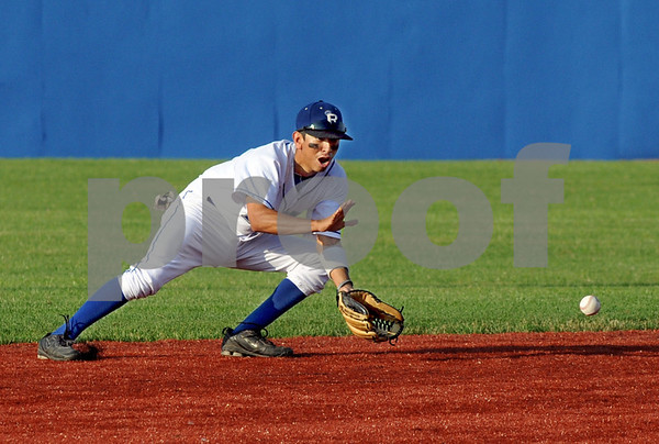 Incoming: Rex shortstop #9, Ray Hernandez fields a hard-hit ball during game action against Chillicothe Tuesday evening.