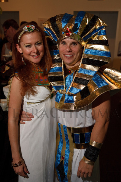 (Denver, Colorado, June 25, 2010)<br /> Jen Wilson and Kevin Zaloudek.  Flappers and Pharaohs Bash at the Denver Art Museum in Denver, Colorado, on Friday, June 25, 2010.<br /> STEVE PETERSON