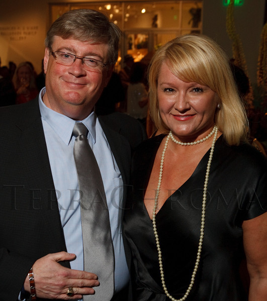 (Denver, Colorado, June 25, 2010)<br /> David MacLeod and fiance, Kasia Iwaniczko.  Flappers and Pharaohs Bash at the Denver Art Museum in Denver, Colorado, on Friday, June 25, 2010.<br /> STEVE PETERSON
